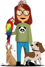 Girl with animals