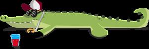 Sunny crocodile